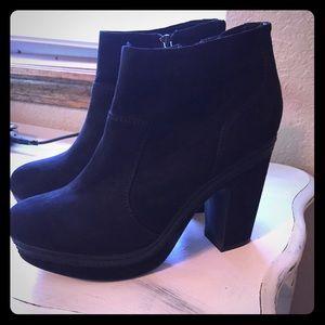 Madden Girl Black suede booties- 6.5